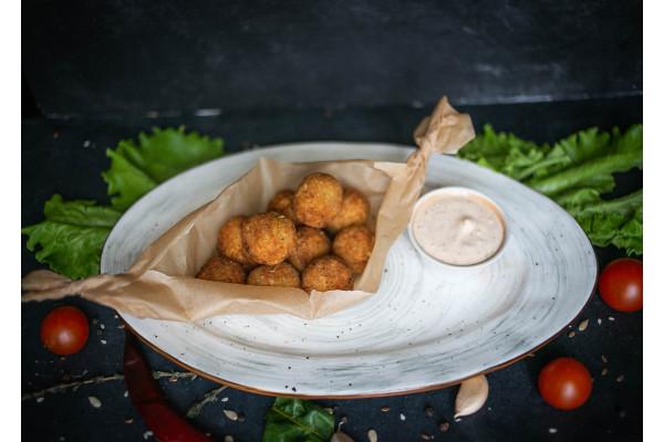 Картофельные шарики с беконом